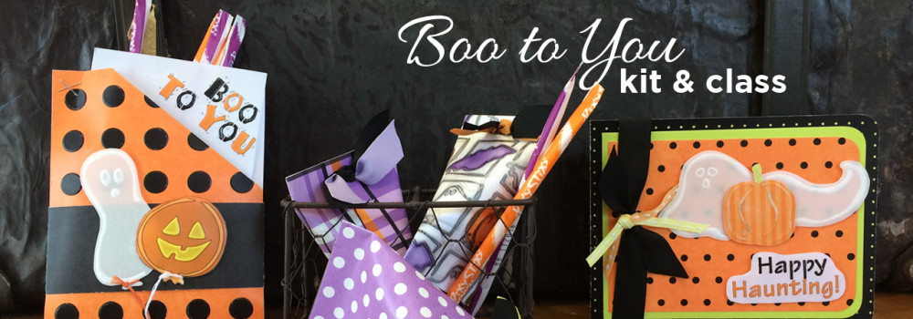 Boo to You Embossing Card Kit