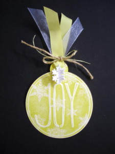 Barbara's Joy Ornament Tag, L.I. Template #L9767
