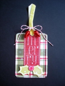 Barbara's Merry Tag, L.I. Template #S884
