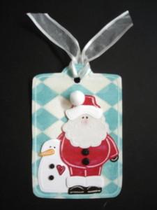 Barbara's Santa & Snowman Tag, L.I. Template #9770