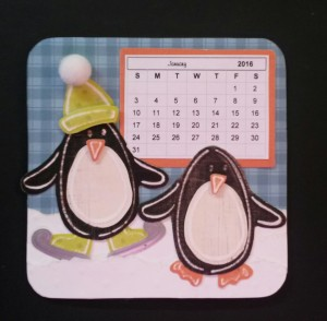 Barbara's January Coaster Calendar.
