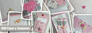 NEW Valentine papers and embossing templates