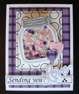 Donna's Valentine Shaker using Template #L9356.