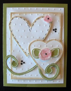 Donna's Valentine using Template #L9628 and #L9462