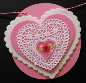 Barbara's Valentine Heart   using L.I. Template #L9457.