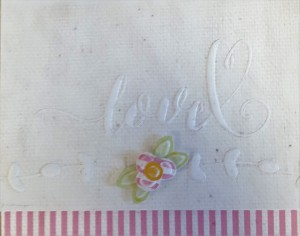 L.I. Template #L9782 with Natural Canvas, Pink Mini Stripes, Lime Fizz Damask, and Yellow Daisies Damask.