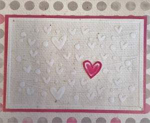 L.I. Template #L9777 using Hugs and Kisses Mixed Dots, Pink Canvas Pink Dark and Canvas Natural.
