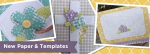 New Papers & embossing templates for scrapbooking, cardmaking and papercrafting.
