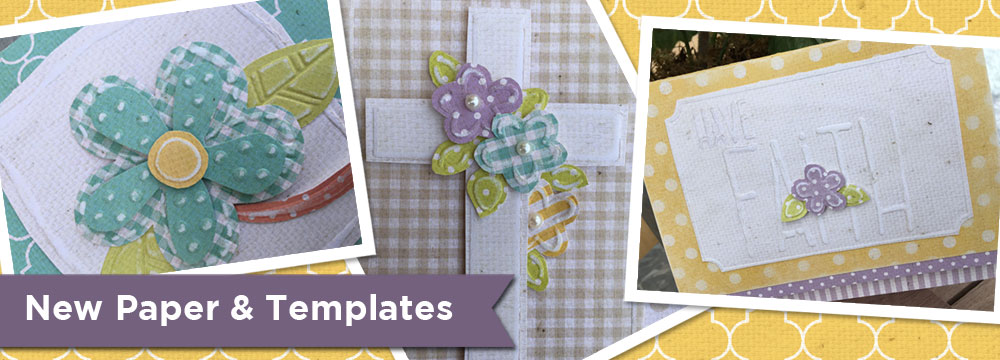 New Embossing Templates Cross & Flowers