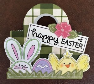 Donna's Easter Basket.  L.I> Template #L9094 and Lawn Fawn Tote Bag Die.