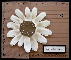 Donna's M16 Gerbera Daisy Trifold Front.