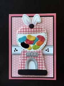 Donna's Rabbit Gumball Machine.  L.I. Template #L9778.
